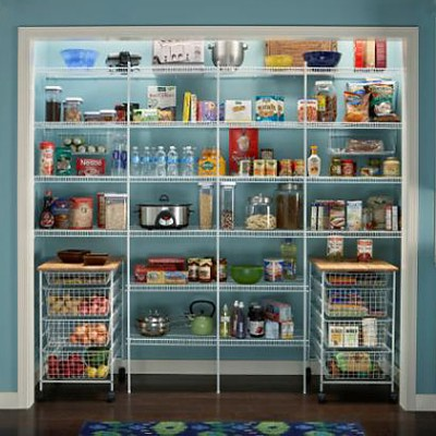 Kitchen Pantry with ClosetMaid Shelving